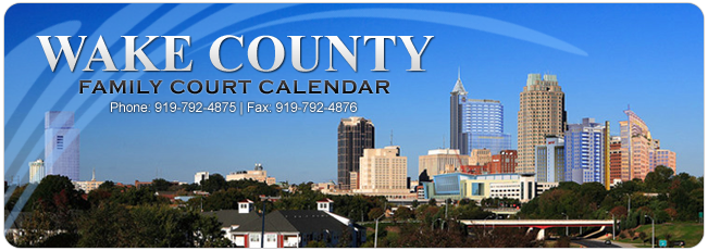 Wake County Family Court Calendar